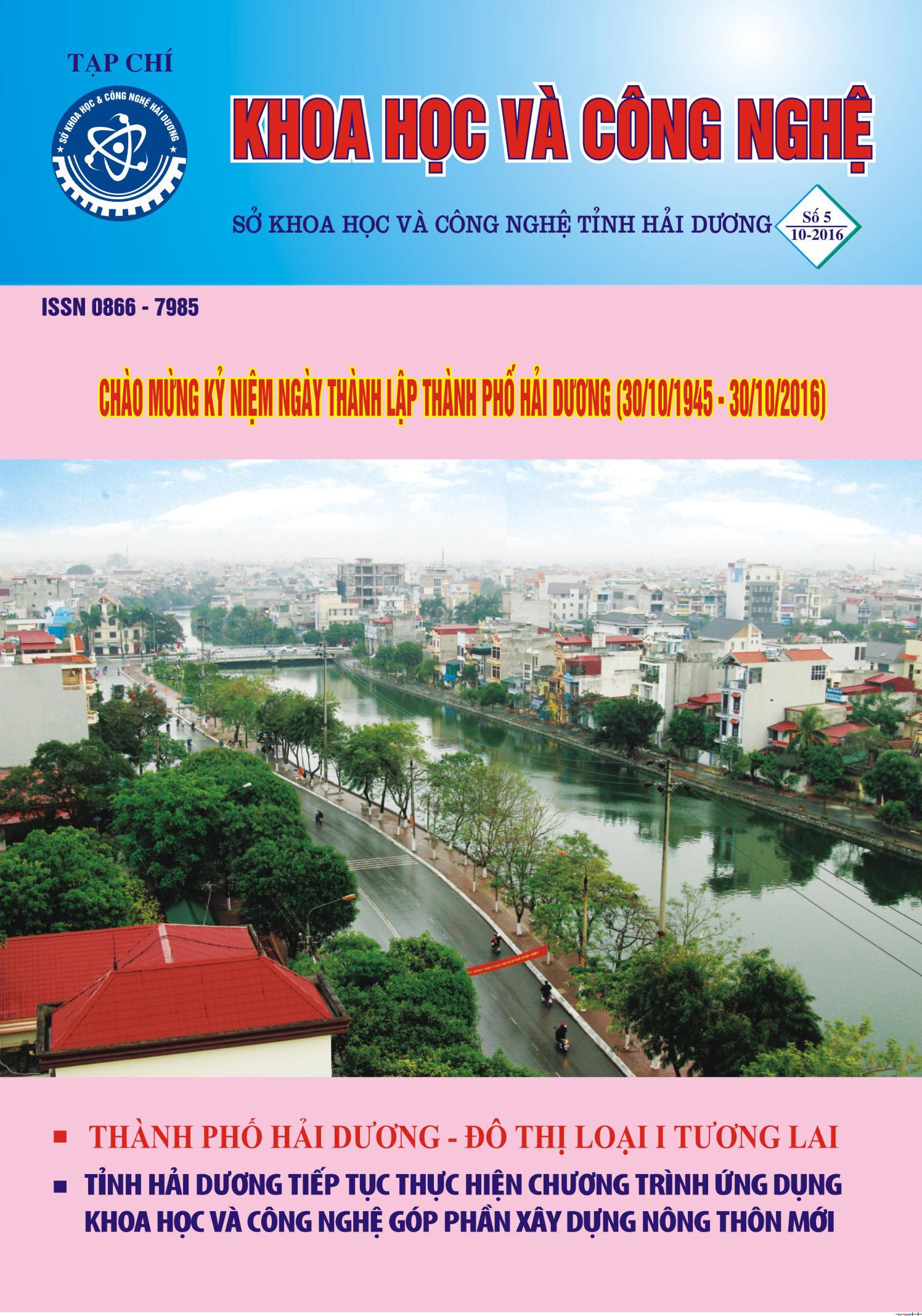 Tạp chí số 5 - 2016